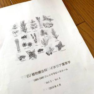 【講座レポ】イタリア薬草学@東京 5・6回目